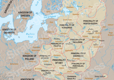 Kievan Rus Principalities Map 1.cdr