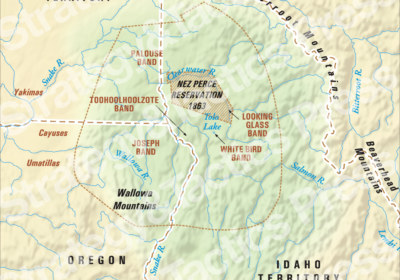 Nez Perce Territory Map 1